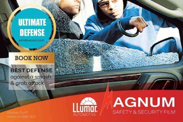 Window-Cool™ - LLumar Anti-Shatter Safety Automotive Window Film Promotion in Singapore
