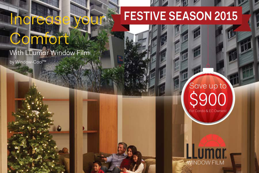 window-cool festive season solar film promotion for condominium singapore
