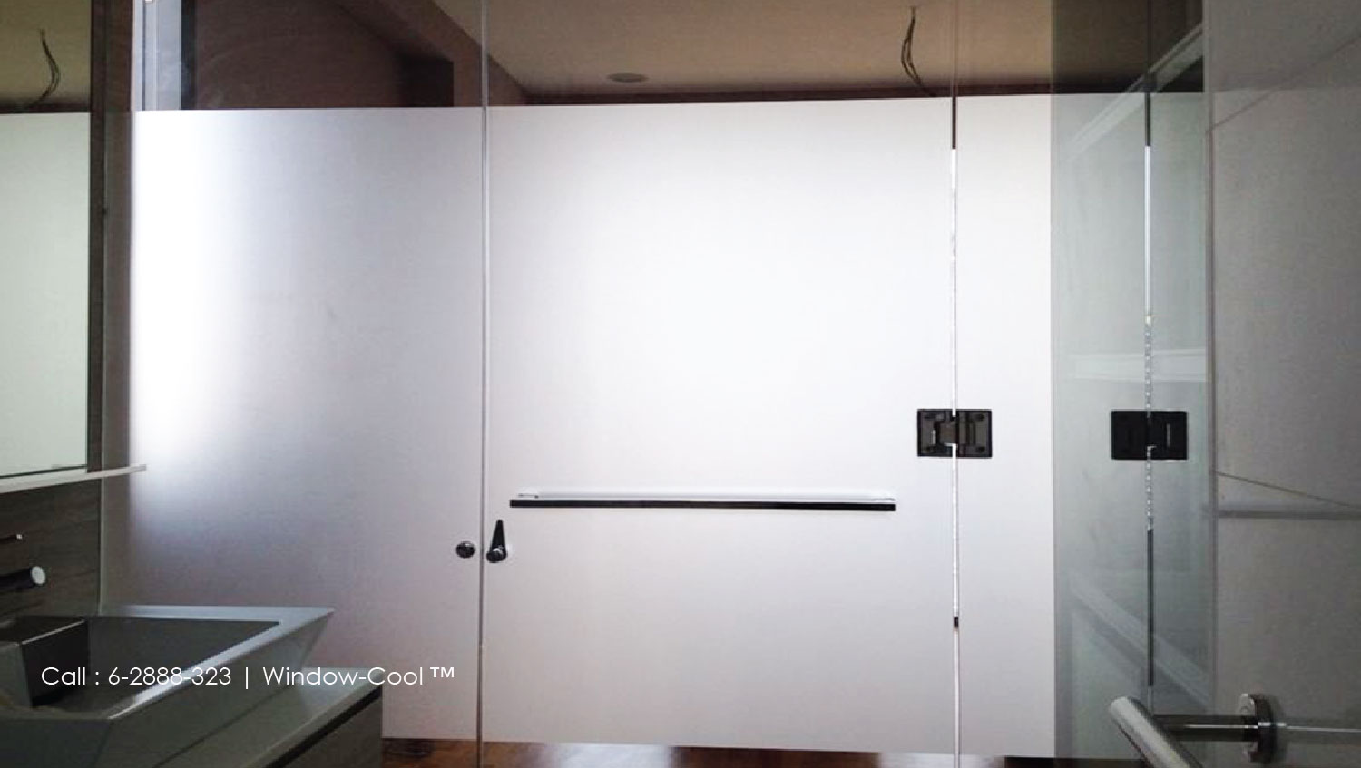 Merveilleux BY INSTALLING PRIVACY WINDOW FILMS FROM US Window Cool Glass Toilet Door ...