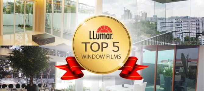 5 Most Popular LLumar Window Films in Singapore in 2015