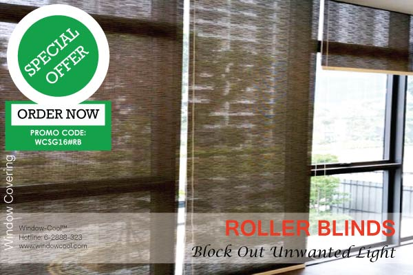 Window-Cool™ - Roller Blinds Promotion, Window Blinds Promotion Singapore