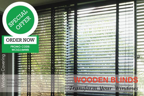 Window-Cool™ - Timber & Wooden Blinds Promotion, Window Blinds Promotion Singapore