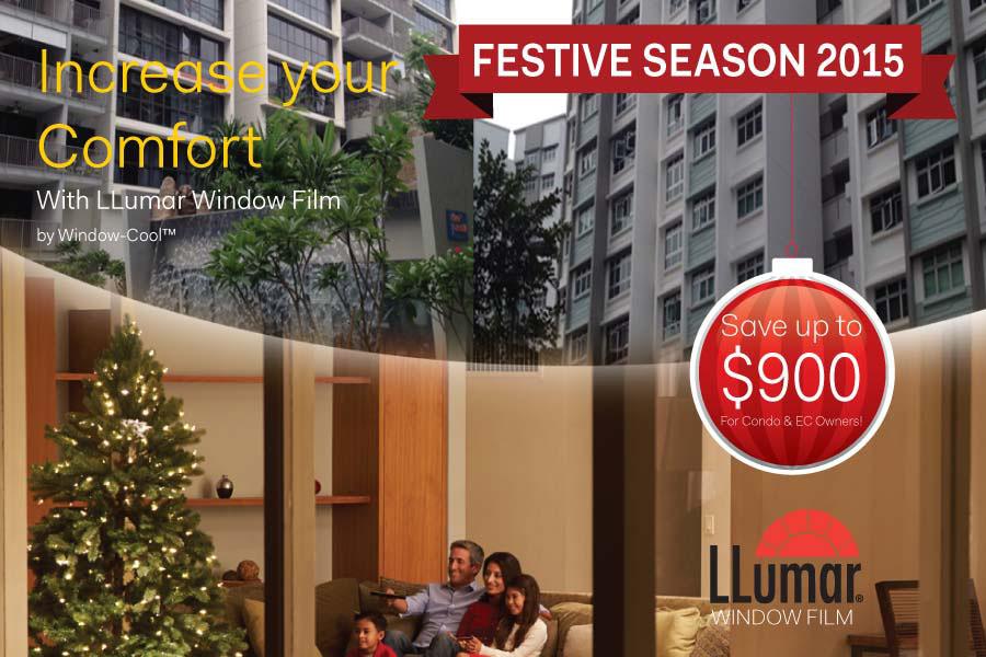window-cool festive season solar film promotion for condominium singapore