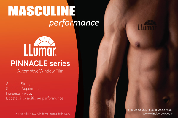 Window-Cool - LLumar Pinnacle Plus Automotive Window Film Promotion in Singapore