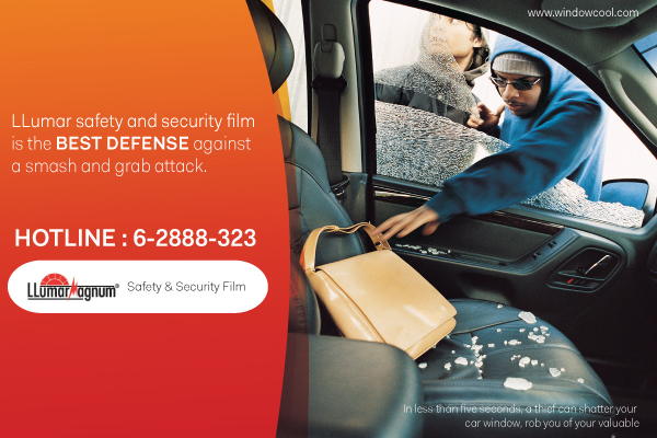 Window-Cool - LLumar Anti-Shatter Safety Automotive Window Film Promotion in Singapore