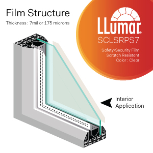 7mil clear anti shatter safety security window film singapore
