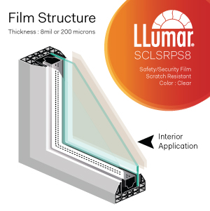 8mil clear anti shatter safety security window film singapore