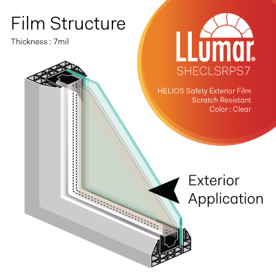 Helios SHECLSRPS7 Anti-Shatter Exterior Safety Film