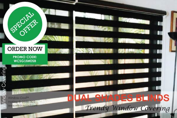 Dual Shade Blinds Promotion, Window Blinds Promotion Singapore