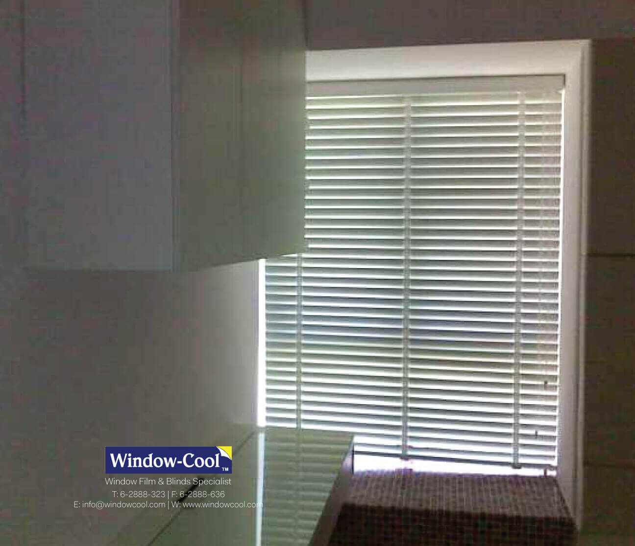 50mm Wooden Venetian Blinds For Home Kitchen Window Windowcool Window Blinds Singapore Window Cool Llumar Window Film Multifilm Solar Film Blinds