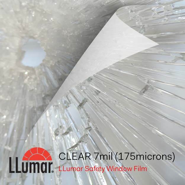 LLumar Safety Film Supplier - 7mil Clear Protection Film for Glass Break
