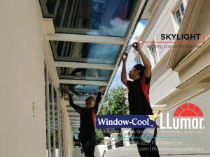Window-Cool LLumar Window Film For Skylight (Installing LLumar Window Film)