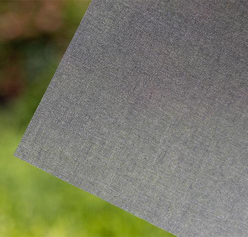 Black Linen Fabric Window Film