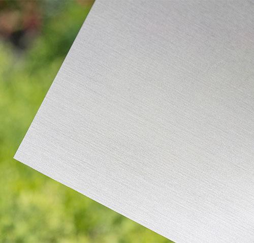 White Linen Fabric Window Film