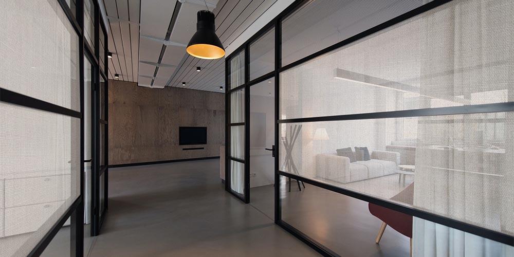 Linen Fabric Window Film