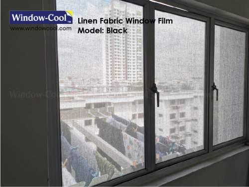 Veilish Black Fabric Window Film